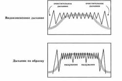 Схема дыхания при родовых схватках